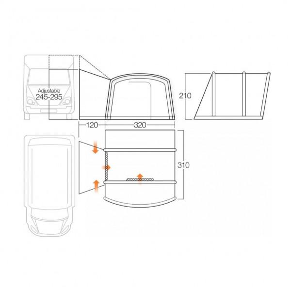 Galli III Compact Tall Busvorzelt