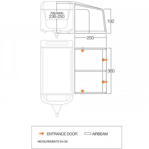 Somerby 360 Wohnwagenvorzelt