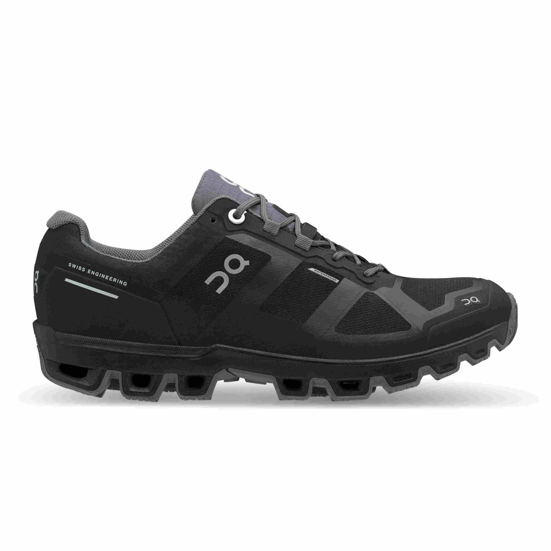 On Cloudventure Waterproof Damen Trailrunning-Schuhe schwarz,black/graphite