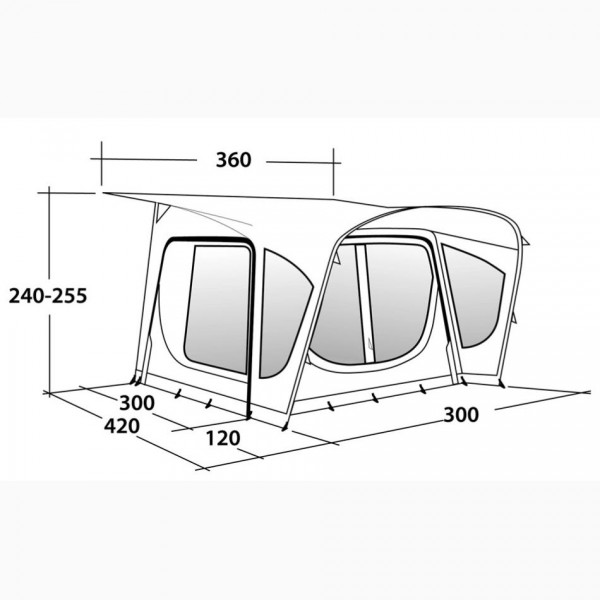 Amber 300SA Wohnwagenvorzelt