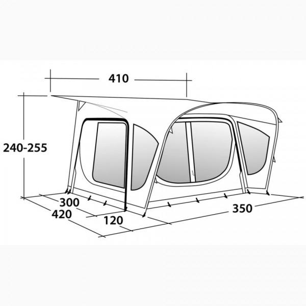 Amber 350SA Wohnwagenvorzelt