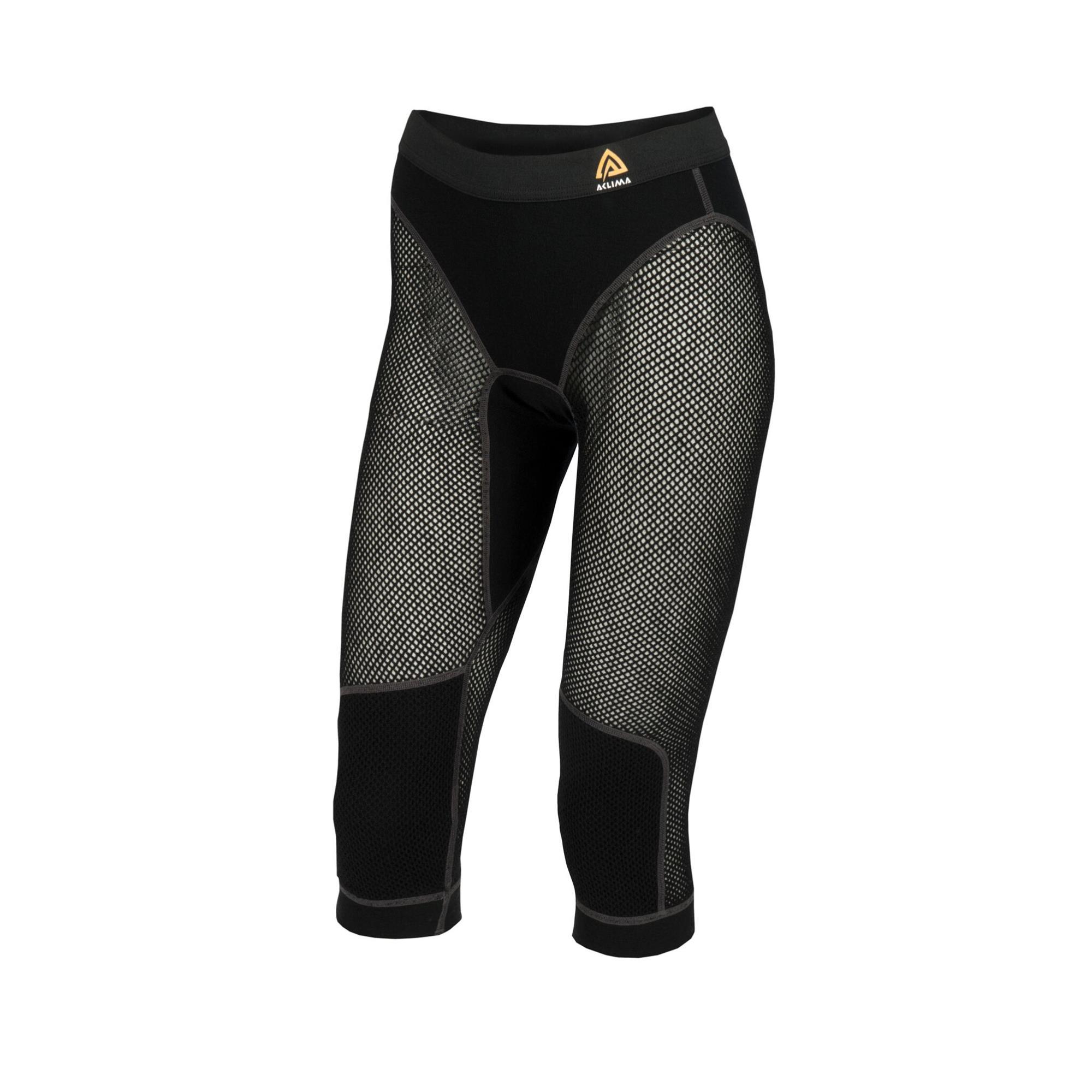 Aclima Woolnet 3/4 Long Pants Damen Funktionsunterhose schwarz Gr. M