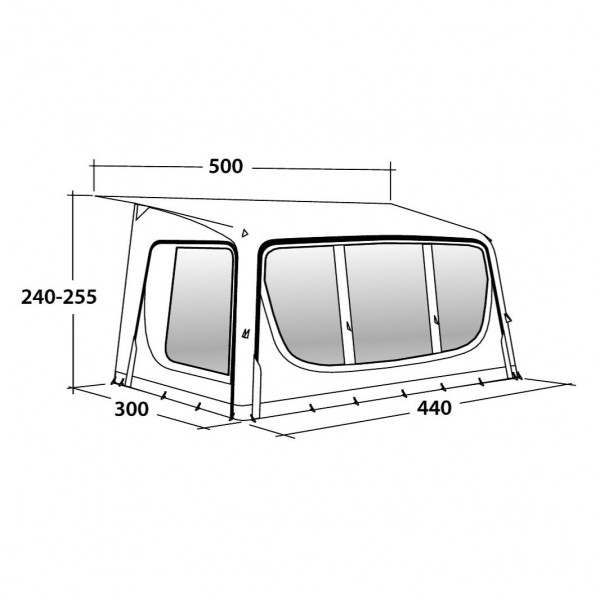 Tide 440SA Wohnwagenvorzelt
