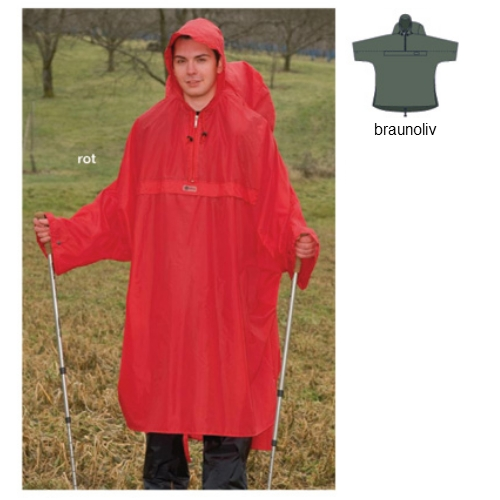Wäfo Rucksackponcho Backpacking rot Gr. XL