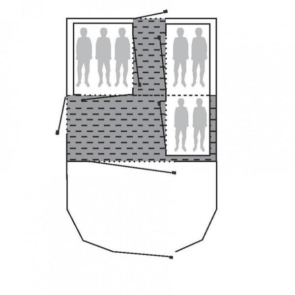 Alabama 7P Fleece Teppich 190 x 460 cm