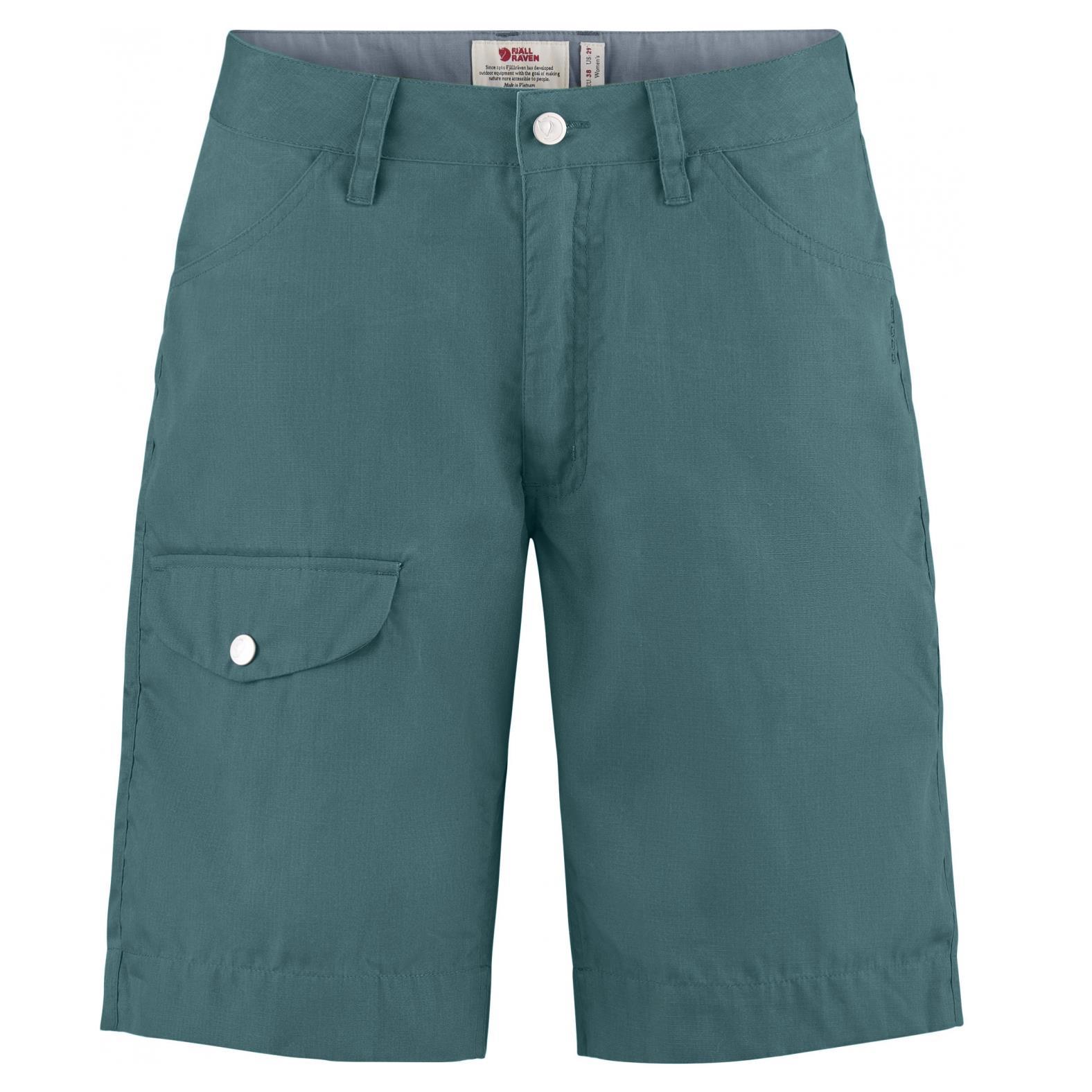 Fjällräven Greenland Shorts Women grau/grün Damen