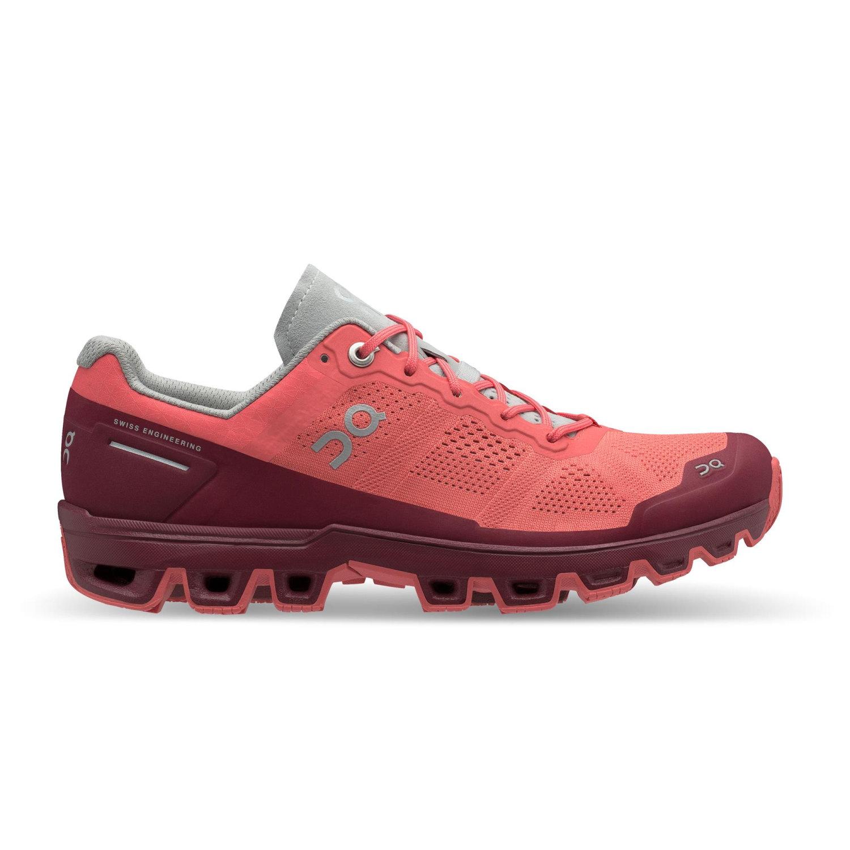 On Cloudventure Damen Trailrunning-Schuhe apricot,coral/mulberry