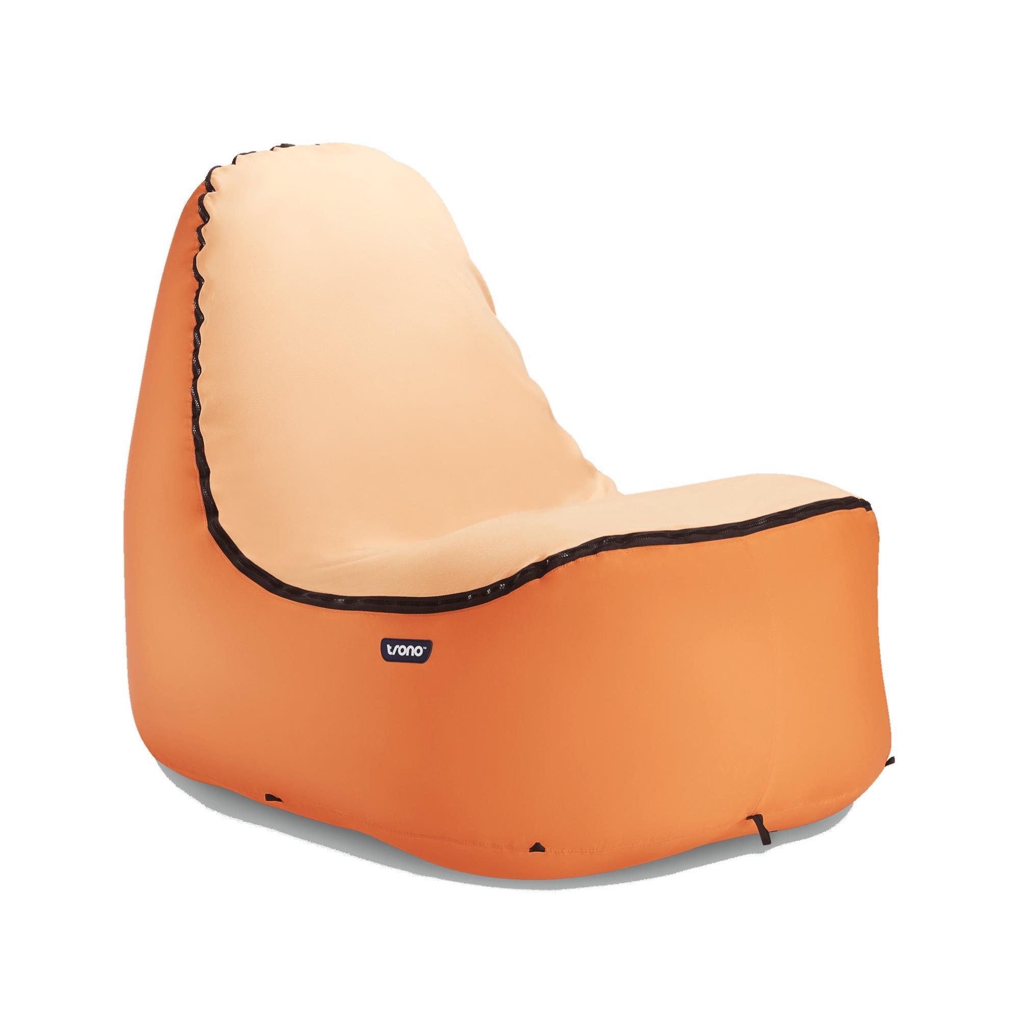 trono TRONO Chair aufblasbarer Campingsessel orange
