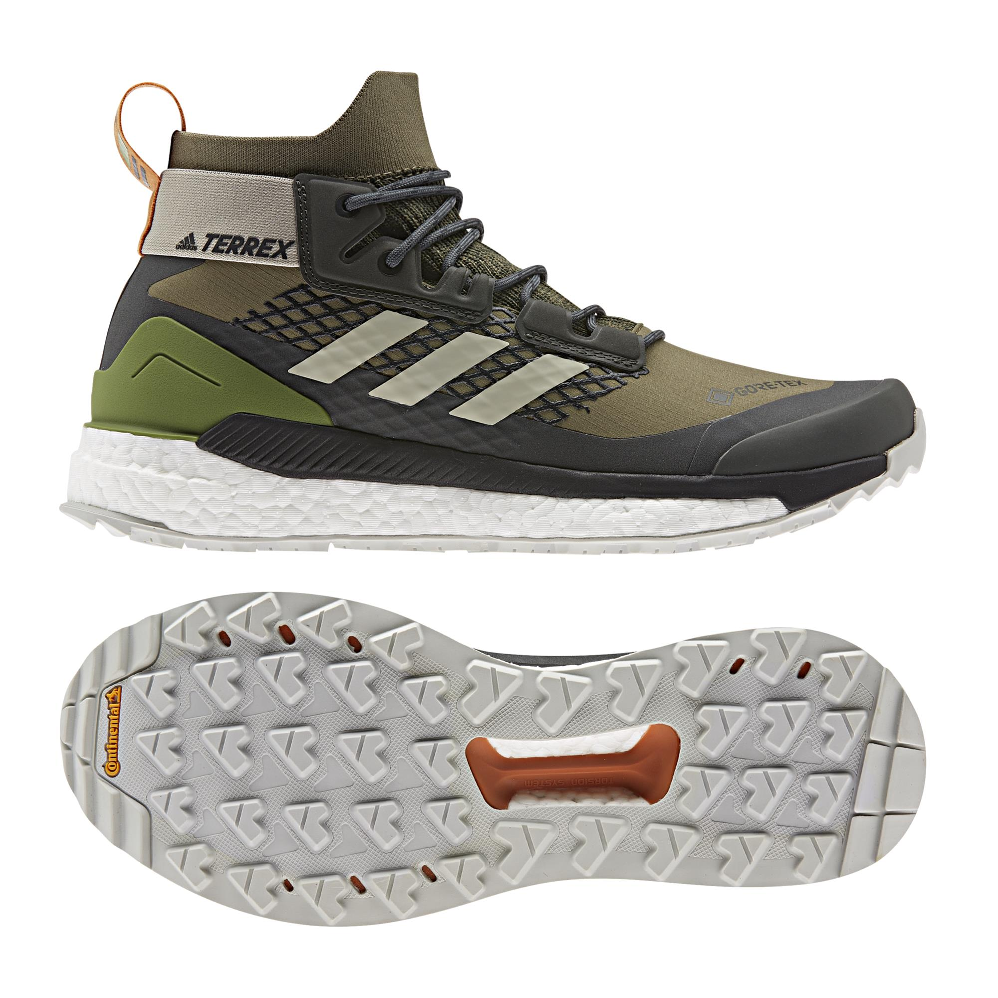 Adidas Terrex Free Hiker G Herren Wander- und Freizeitschuhe olive,raw khaki/sesame/tecoli Gr. 46,0 EU