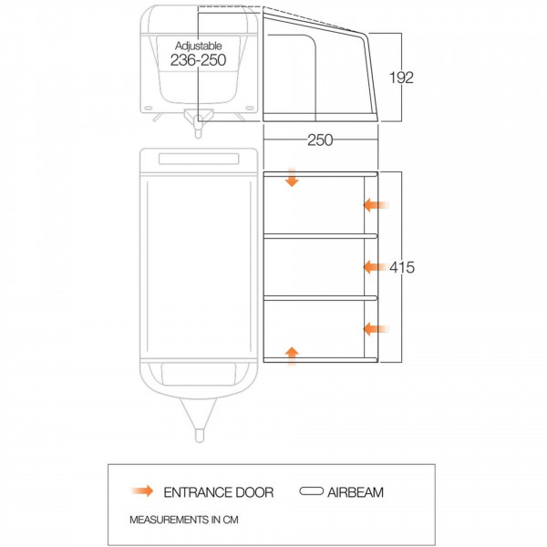 Somerby 420 Wohnwagenvorzelt
