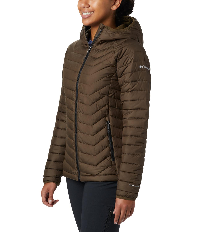 Columbia Powder Lite Hooded Jacket Women Damen Outdoorjacke olive Gr. S Preisvergleich