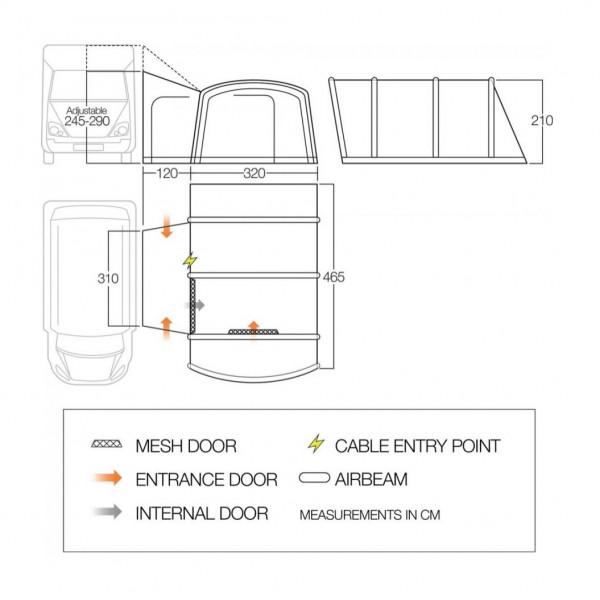 Rhone Tall Busvorzelt