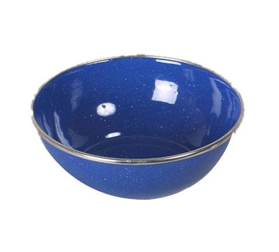 Emaille Schüssel blau