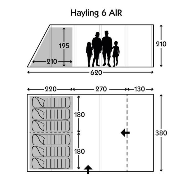 Hayling 6 Classic Air Pro Polycotton Familienzelt