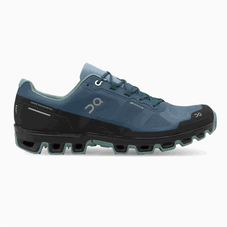 On Cloudventure Waterproof Herren Trailrunning-Schuhe blau,storm/cobble Gr. 44,0 EU