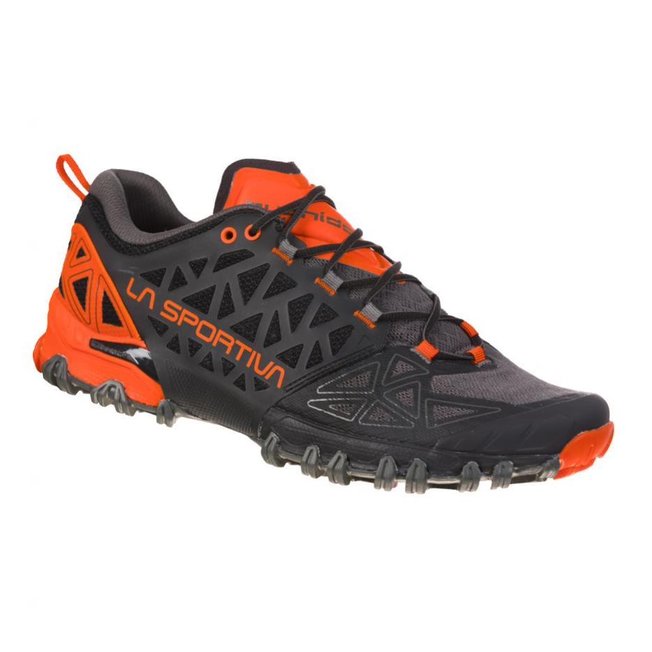 La Sportiva Bushido II Herren Trailrunning-Schuhe dunkelgrau,carbon/tangerine Gr. 42,0 EU